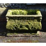 A CARVED STONE PLANTER, POSSIBLY 19TH CENTURY