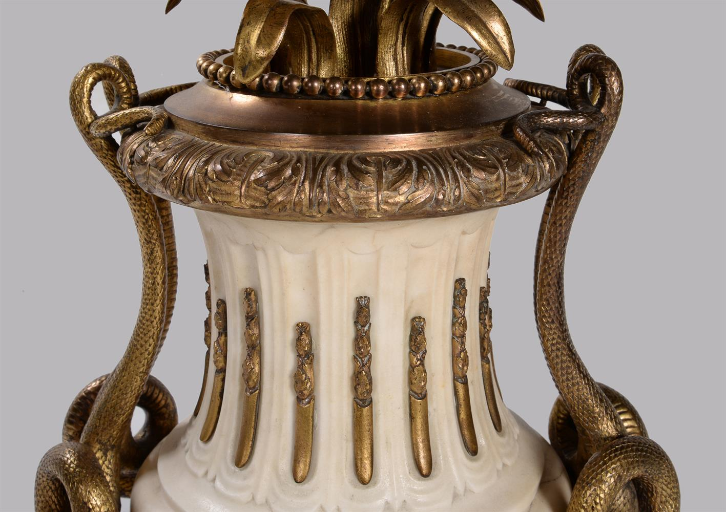 A PAIR OF FRENCH MARBLE AND ORMOLU SEVEN LIGHT CANDELABRA, CIRCA 1860 - Image 6 of 6