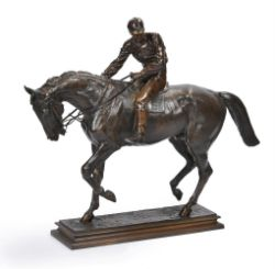 AFTER ISIDORE JULES BONHEUR (FRENCH 1827-1901), A BRONZE EQUESTRIAN GROUP 'LE GRAND JOCKEY'