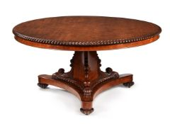A WILLIAM IV MAHOGANY CENTRE TABLE, CIRCA 1835, IN THE MANNER OF WILLIAM TROTTER