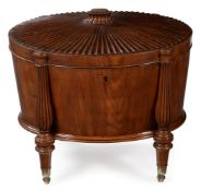 A REGENCY MAHOGANY OVAL WINE COOLER, CIRCA 1815, ATTRIBUTED TO GILLOWS