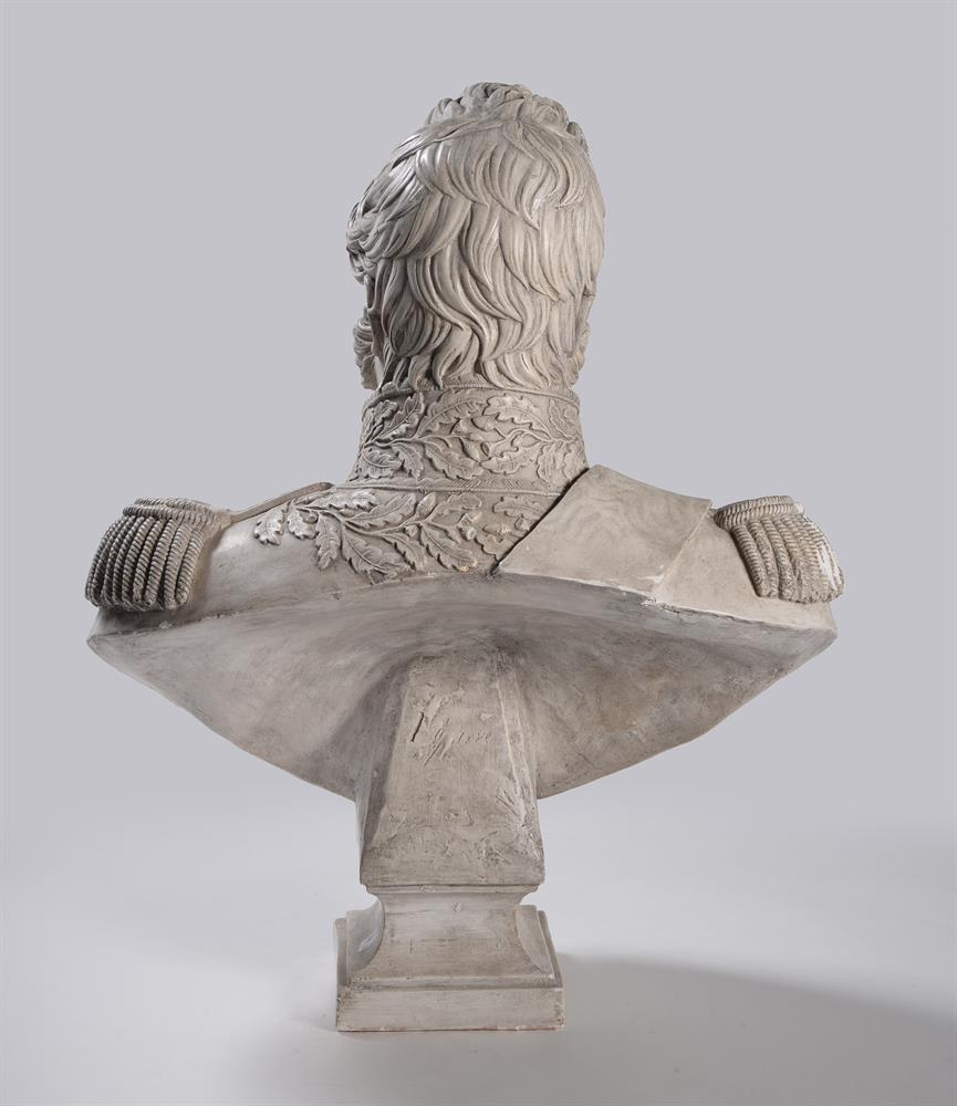 A PLASTER BUST OF LOUIS PHILIPPE I (1773-1850), ON A MAHOGANY PEDESTAL STAND, 20TH CENTURY - Image 5 of 7