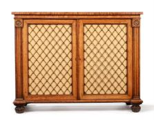 A WILLIAM IV OAK SIDE CABINET, CIRCA 1835, ATTRIBUTED TO GILLOWS
