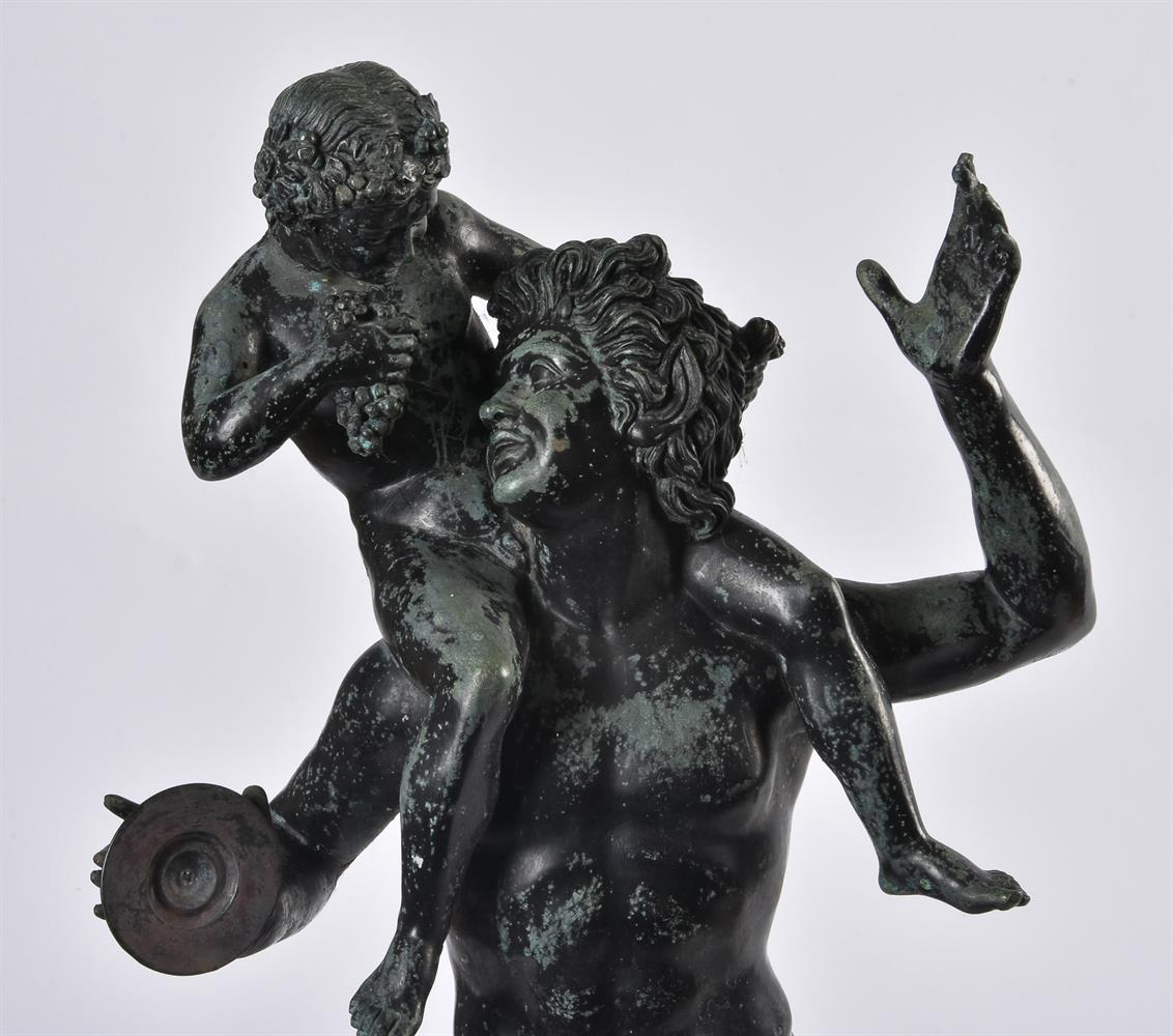 AFTER THE ANTIQUE, A BRONZE GROUP OF A SATYR WITH THE INFANT BACCHUS, LATE 19TH/EARLY 20TH CENTURY - Image 2 of 3