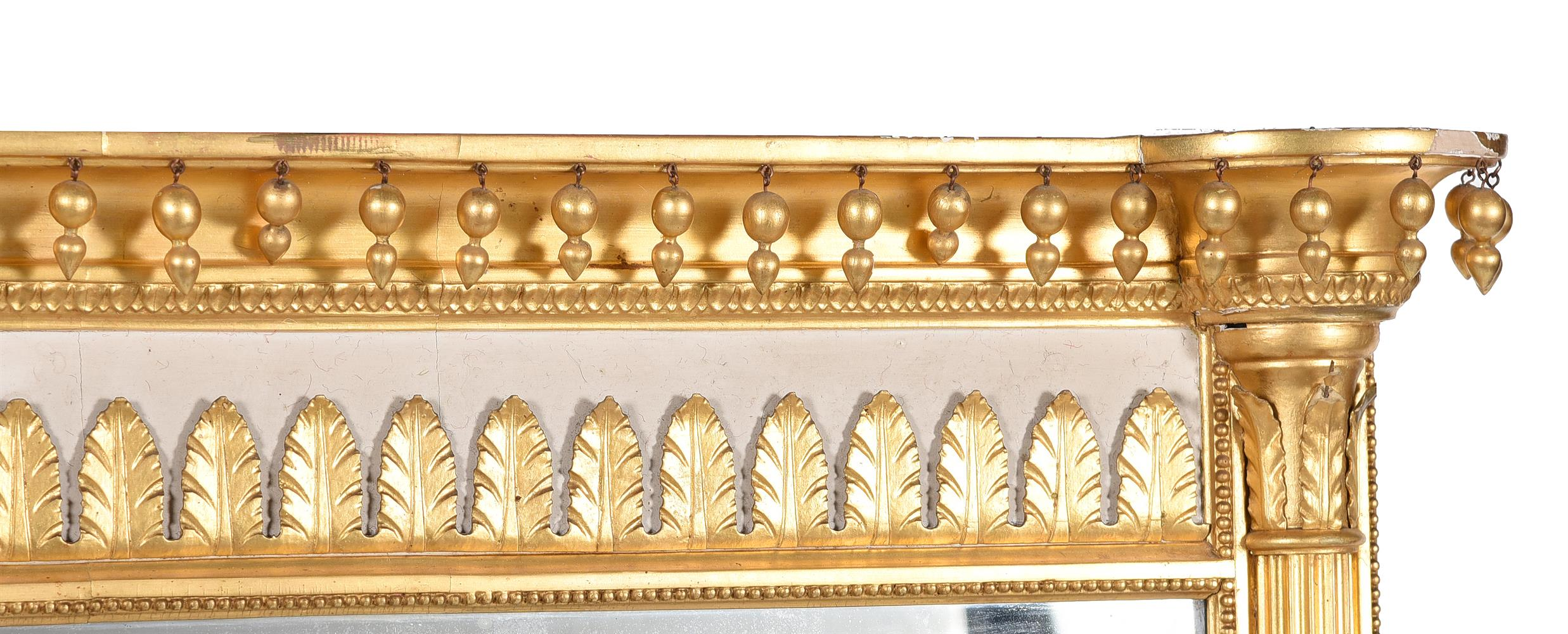 A PAIR OF GEORGE III GILTWOOD AND CREAM PAINTED WALL MIRRORS, CIRCA 1800 - Image 3 of 4