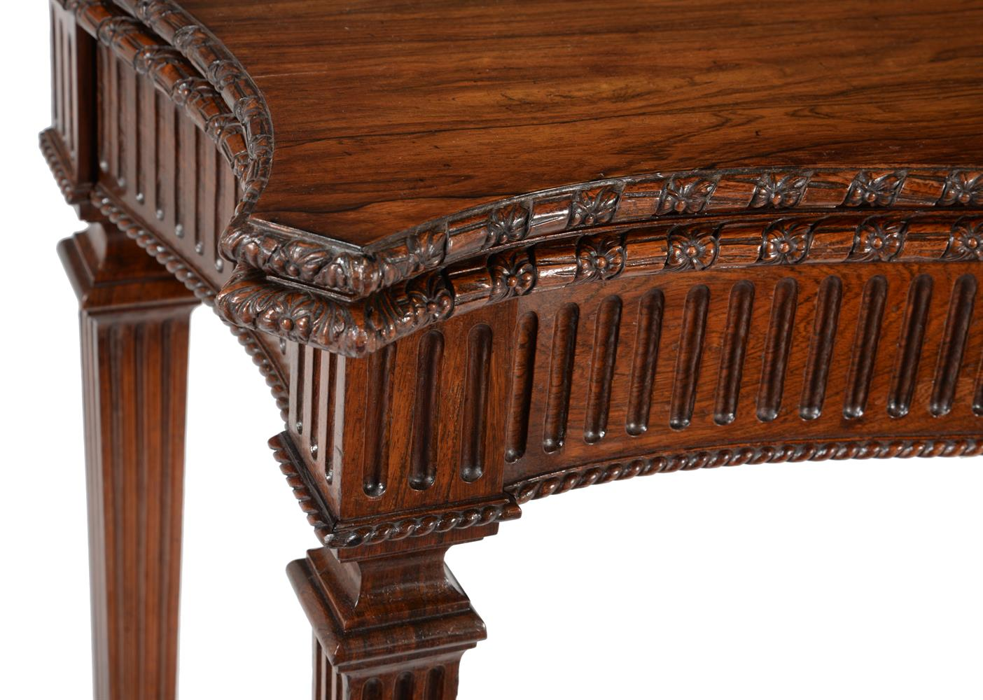 Y A GEORGE IV ROSEWOOD SERPENTINE FOLDING CARD TABLE, CIRCA 1825 - Image 3 of 5