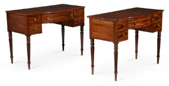 A PAIR OF REGENCY MAHOGANY DRESSING TABLES, CIRCA 1815, IN THE MANNER OF GILLOWS