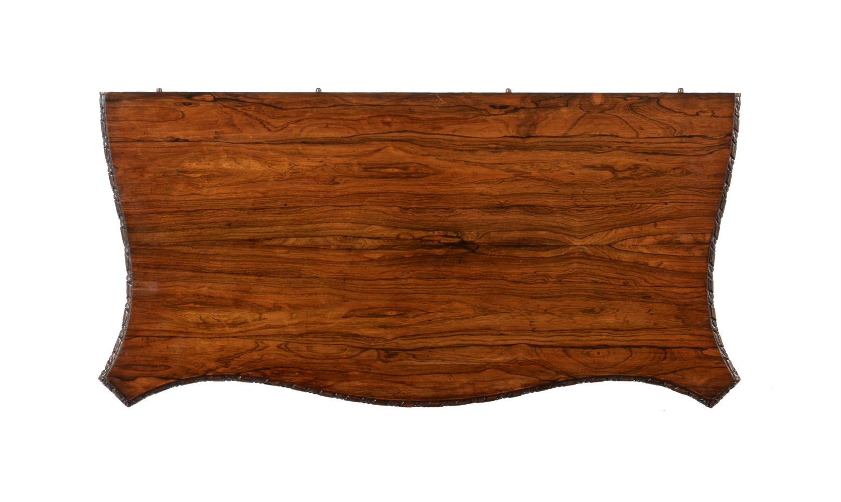 Y A GEORGE IV ROSEWOOD SERPENTINE FOLDING CARD TABLE, CIRCA 1825 - Image 5 of 5
