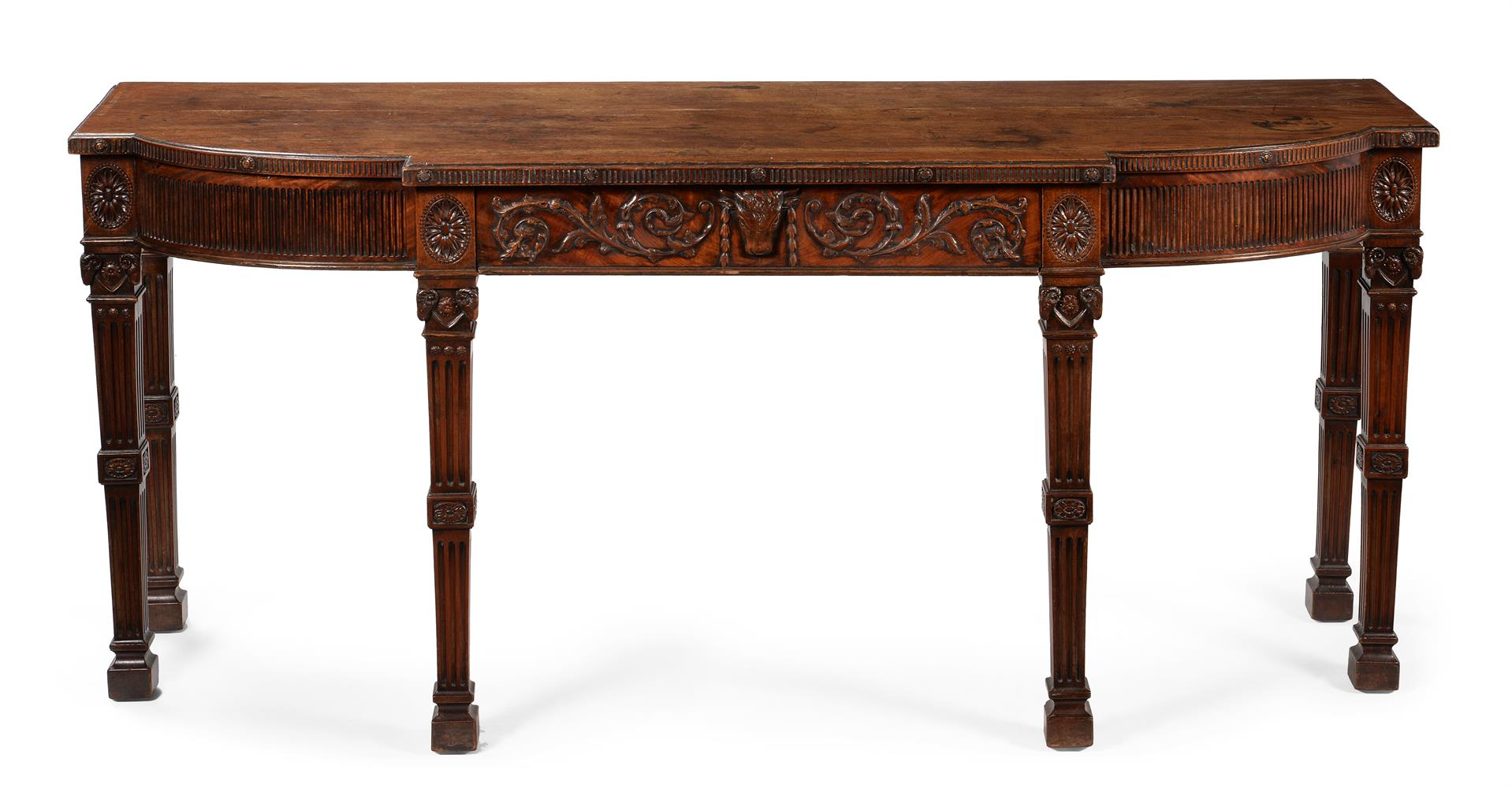 A GEORGE III MAHOGANY SERVING OR HALL TABLE, CIRCA 1785 - Image 2 of 6