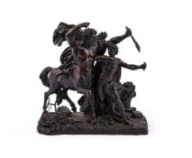 AFTER THE ANTIQUE, A BRONZE GROUP 'THE EDUCATION OF ACHILLES BY THE CENTAUR CHIRON'