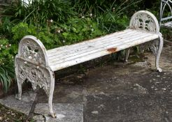 A RARE COALBROOKDALE BENCH, LATE 19TH CENTURY