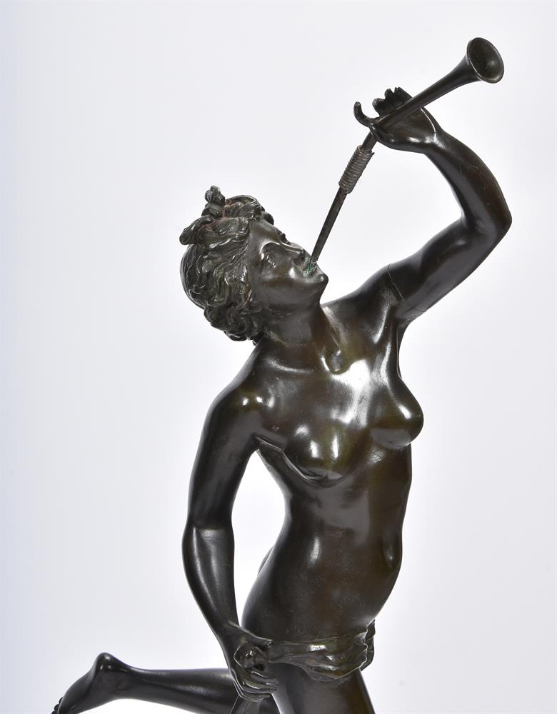 AFTER GIAMBOLOGNA, A PAIR OF BRONZE FIGURES OF MERCURY AND FORTUNA, SECOND HALF 19TH CENTURY - Image 4 of 7