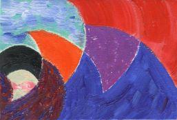 Kristine Moran, Overcoming Waves - Study, 2021