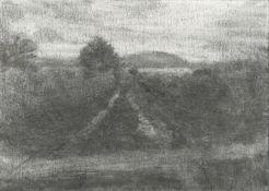 Michael Wann, Laneway at dusk, 2021