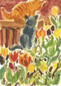 Robert Soden, Ivan, Roland, amongst the Tulips, 2021