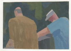 Michael Kirkbride, Two Men on a Bridge, 2021