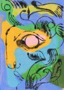 Petra Borner, Floral Face Blue, 2021