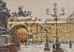 λ Arseny Semenyov (Russian 1922-) Palace Square Leningrad