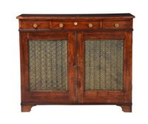 Y An early 19th century and later mahogany side cabinet