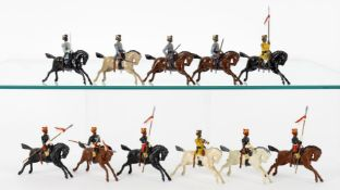 Britains Indian Army mounted on unmarked horses
