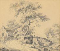 Attrib Phillipine Marie Schuz (1767-1797) Landscape