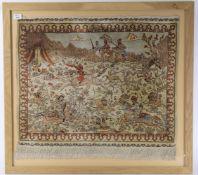 A small Hereke part silk rug