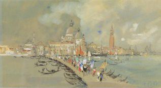 Hercules Brabazon Brabazon (1821-1906)- Venice, Procession of the Redentore