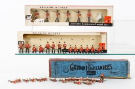 Britains Various sets to include: Gordon Highlanders Set 118 with original box