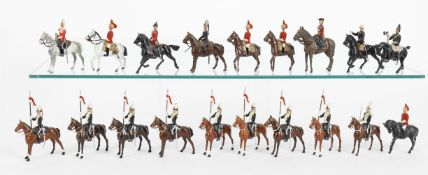 Britains and other makers including: Lancers from various sets