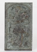 A German or Low Countries bronze relief plaque