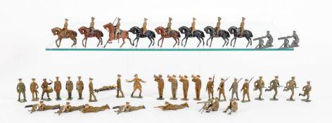 Britains various Khaki style military figures