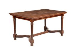 A French walnut table
