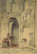 J Seale (19th century)- Church Interior