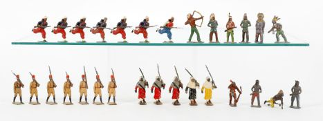 Britains various sets to include: The Kings African Rifles