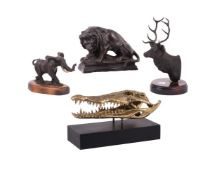 A group of four animal models
