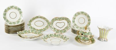 An early 19th century Derby porcelain service