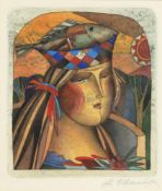 A Ubanof (Contemp)- Lady with fish headpiece