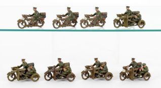 Britains Motor Cycle Machine Gun Corps and Motor Cycle Corps Dispatch Riders