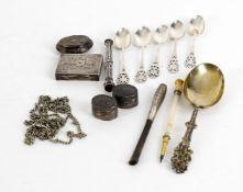 Small silver to include small rectangular box
