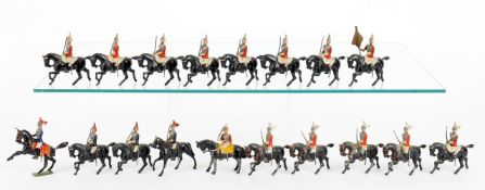 Britains from various Royal Horse Guards Sets including: officer on Prancing Horse