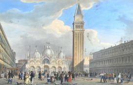 Two framed prints of Venice