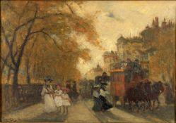 Antal Berkes (Hungarian 1874-1938) Street Scene