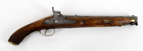 Militaria- a percussion lock Indian made holster pistol