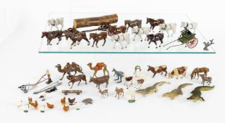 Britains animals from various sets and other makers