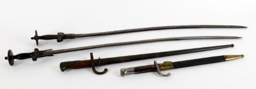 Militaria- two late 19th century Continental bayonets