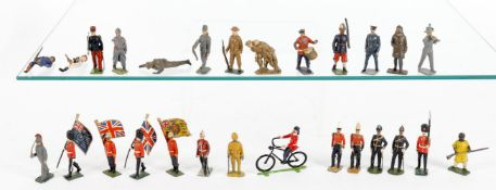 Britains individual lead figures and soldiers from various sets