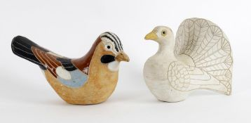 Rosemary Wren and Peter Crotty- a Studio pottery model of a bird