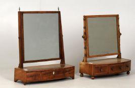 Y An early 19th century mahogany dressing table mirror