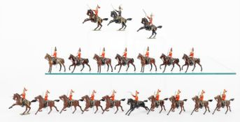 Britains various Dragoon sets comprising of four officers on prancing horses
