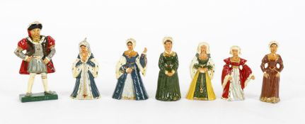 King Henry VIII and six wives lead figures